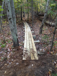 One of seven new bridges on the Silver trail