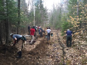 Trail  committee at work
