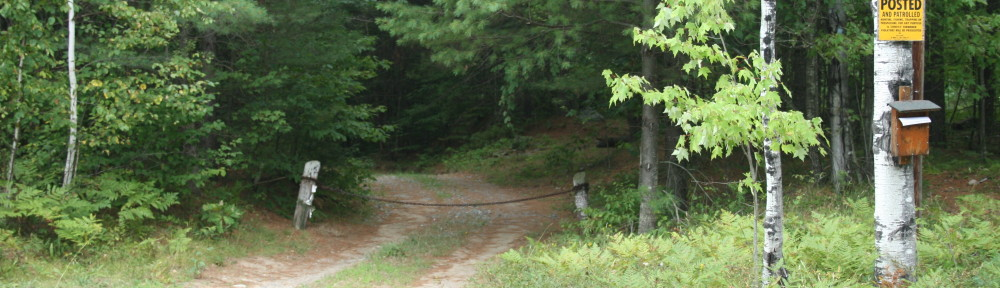 AuSable Acres blue trailhead in Jay New York