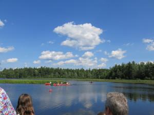 Lake Eaton on 7/5/14 during AAPOA picnic's canoe race.