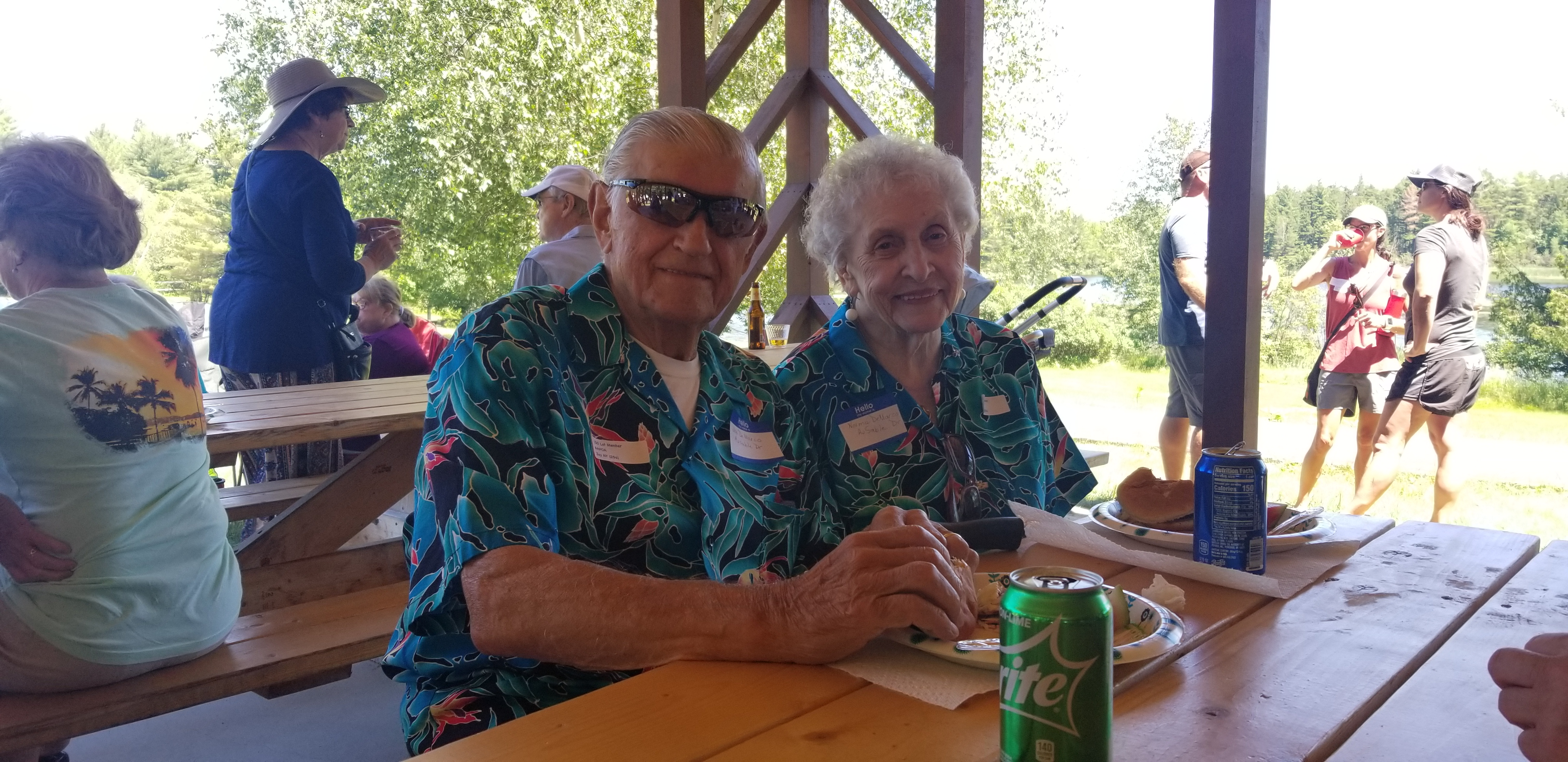 Joe and Norma DeMarco at Picnic
