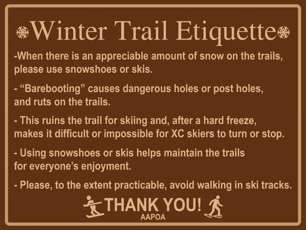 Winter Trail Etiquette